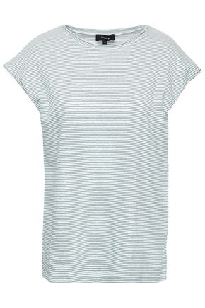THEORY Striped slub linen-blend jersey T-shirt