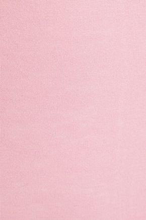 FLEUR DU MAL Satin-trimmed cotton-jersey bodysuit