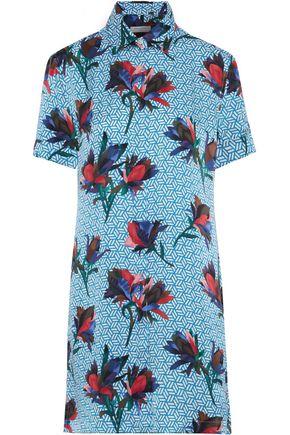 EQUIPMENT Mirelle printed silk-satin mini shirt dress