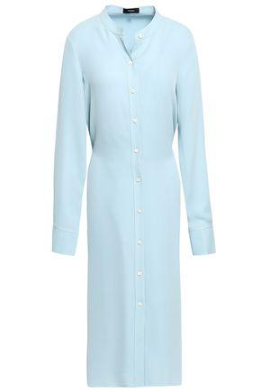 THEORY Effortless belted silk shirt dress