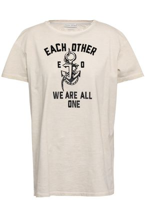 EACH X OTHER Flocked cotton-jersey T-shirt