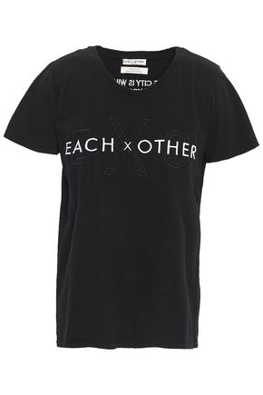 EACH X OTHER Embroidered cotton-jersey T-shirt