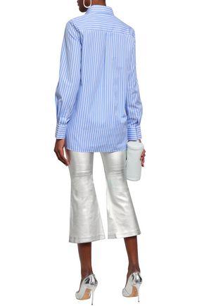 EACH X OTHER Printed striped cotton-poplin shirt