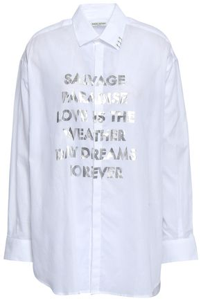 EACH X OTHER Embellished cotton-poplin shirt
