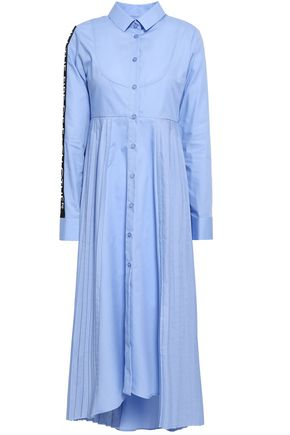 EACH X OTHER Appliquéd cotton-poplin midi shirt dress