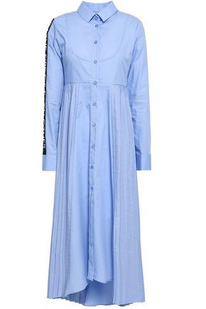 EACH X OTHER Appliquéd cotton-poplin midi shirt dress