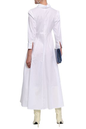 EACH X OTHER Cotton-jacquard midi shirt dress