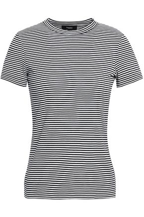 THEORY Striped Pima cotton-jersey T-shirt