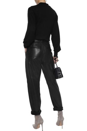 RAG & BONE Bigsby cropped mélange stretch-jersey top