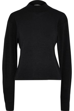 RAG & BONE Bigsby cropped mélange stretch-jersey top
