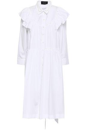SIMONE ROCHA Embellished cape-effect cotton-poplin shirt dress