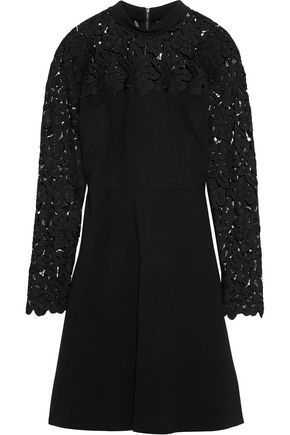 ELIE TAHARI Jenessa guipure lace-paneled ponte dress