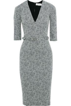 VICTORIA BECKHAM Belted cotton-blend jacquard dress