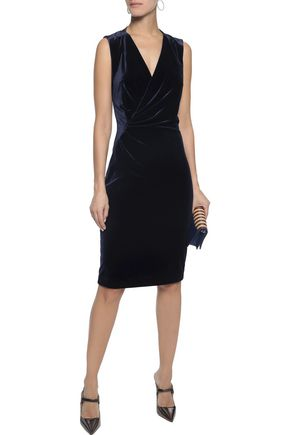 ELIE TAHARI Dolly gathered velvet dress