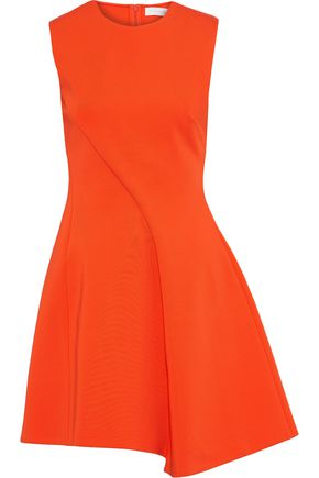 VICTORIA BECKHAM Asymmetric pleated ponte mini dress