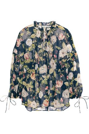 89867ec8bc58ea ALICE + OLIVIA Julius floral-print silk-chiffon blouse