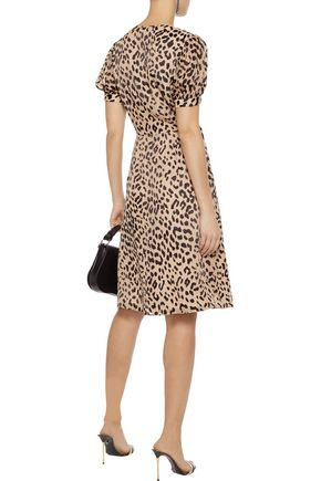 ALICE + OLIVIA Rosette leopard-print fil coupé chiffon wrap dress