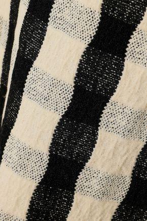 VICTORIA BECKHAM Textured-jacquard dress