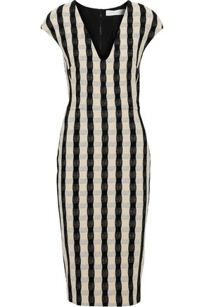 VICTORIA BECKHAM Textured-jacquard dress