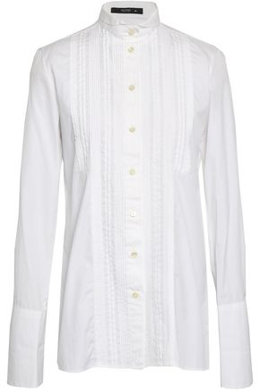 ETRO Pintucked cotton-poplin shirt