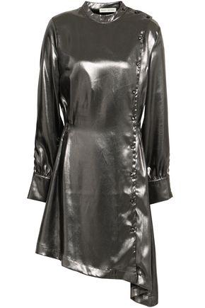 EACH X OTHER Asymmetric lamé mini dress