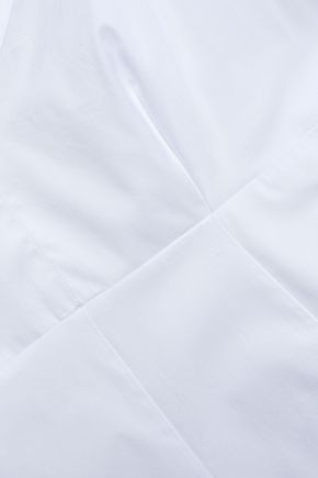 EACH X OTHER Cold-shoulder cotton-poplin top