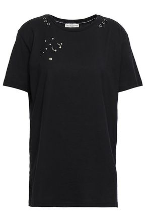 EACH X OTHER Embellished printed cotton-jersey T-shirt