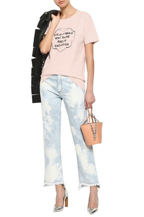 EACH X OTHER Embroidered printed cotton-jersey T-shirt