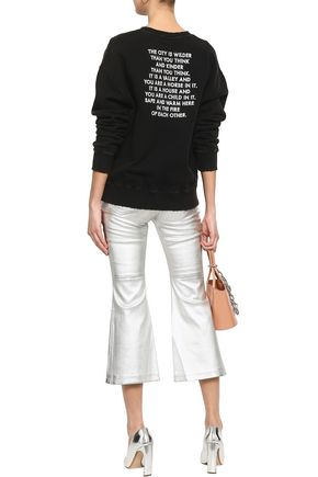 EACH X OTHER Embroidered French cotton-terry sweatshirt