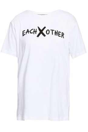 EACH X OTHER Printed cotton-jersey T-shirt