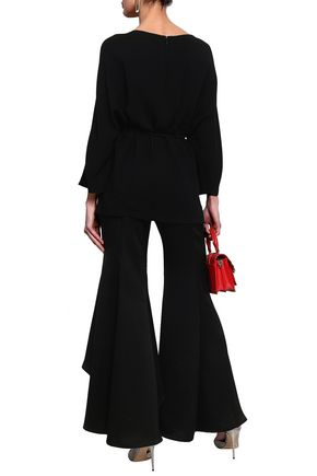 VALENTINO Belted crepe top