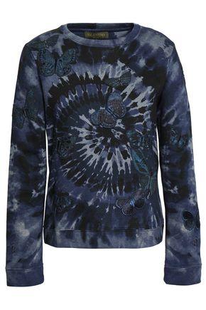 VALENTINO | Valentino Tie-dye French Cotton-blend Terry Sweatshirt | Goxip