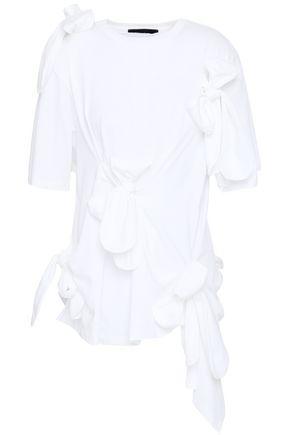 SIMONE ROCHA | Simone Rocha Bow-Detailed Cotton-Jersey Top | Goxip