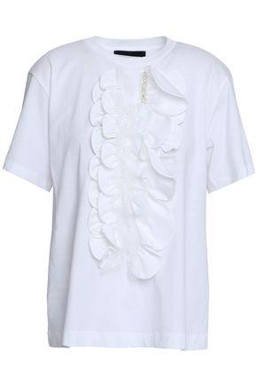SIMONE ROCHA Ruffled embellished cotton top