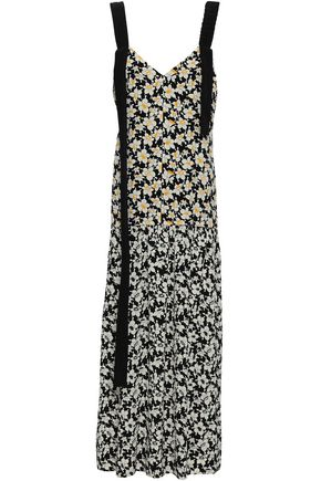 JOSEPH Open-back floral-print silk crepe de chine maxi dress
