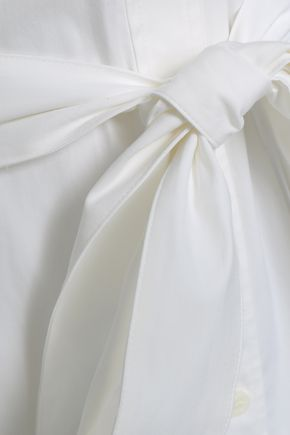 THEORY Belted stretch cotton-poplin shirt dress