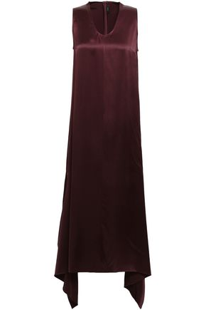 JOSEPH Draped silk-satin midi dress