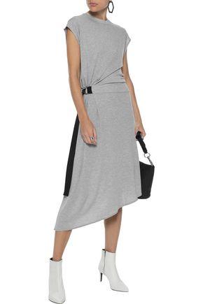 RAG & BONE Ophelia asymmetric gathered stretch-jersey midi dress