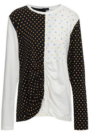 JOSEPH Paneled printed cotton-jersey top