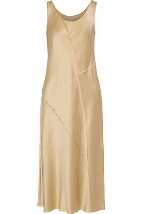 VINCE. Silk-satin midi dress