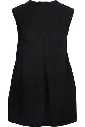 VICTORIA BECKHAM Split-back textured-crepe top