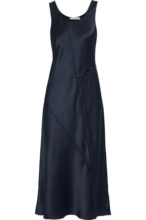 VINCE. Silk-satin midi dress