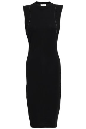 FIORUCCI Eyelet-embellished cutout stretch-jersey dress