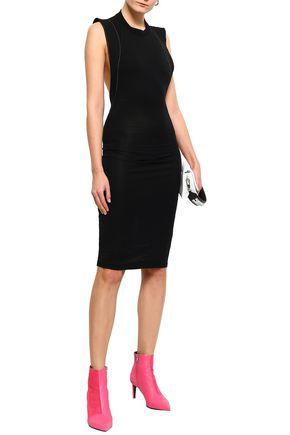 FIORUCCI Eyelet-embellished cutout stretch-jersey dress