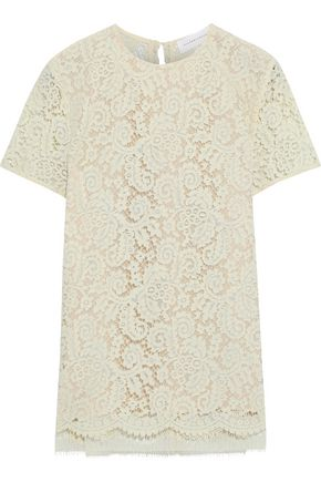 VICTORIA BECKHAM Cotton-blend corded lace top