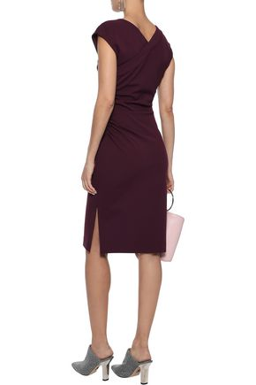 DIANE VON FURSTENBERG Ruched stretch-jersey dress