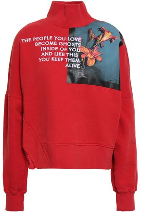 EACH X OTHER Embroidered printed French cotton-terry sweatshirt