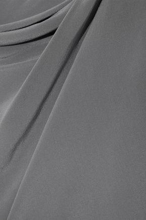 RICK OWENS Toga draped washed-silk tunic