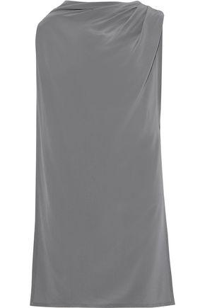 RICK OWENS Draped washed-silk top