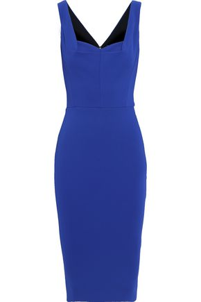 VICTORIA BECKHAM Pleated stretch-ponte dress